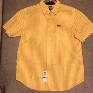 Men's Chaps basic short sleeved button up
